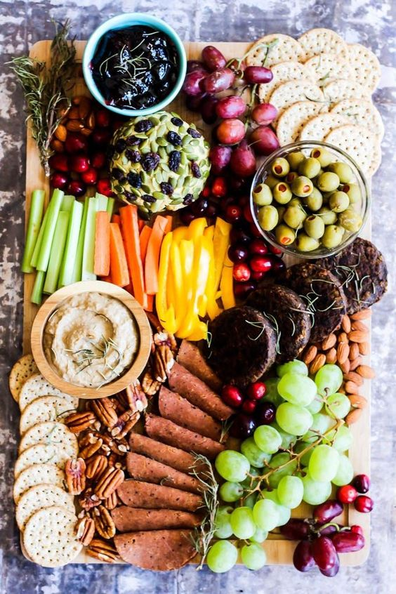 Healthy Super Bowl Appetizers (Vegan, Gluten Free, Sugar Free) || Vegan Charcuterie board #superbowl #appetizers #healthy #vegan || Nikki's Plate