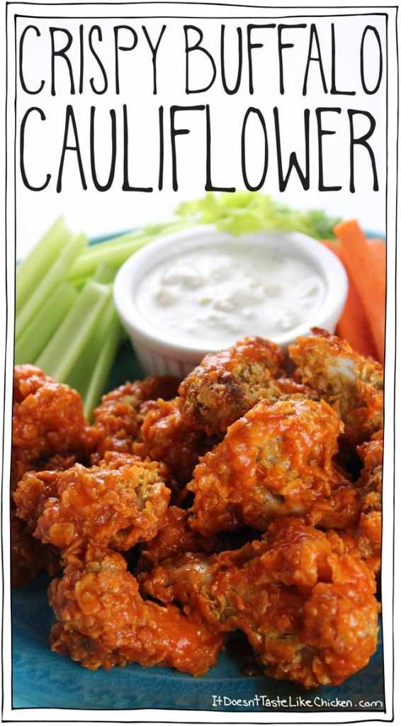 Healthy Super Bowl Appetizers (Vegan, Gluten Free, Sugar Free) || crispy buffalo cauliflower wings vegan vegetarian recipe baked appetizer finger food #cauliflowerwings || Nikki's Plate