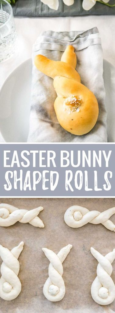 Easter Bunny Shaped Rolls, bread appetizer || || Cute Easter Recipes || App, starter - www.nikkisplate.com