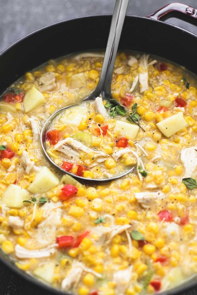 Easy Leftover Turkey Recipes; Not sure what to do with your leftover turkey from the holidays? Try these 15 easy and delicious recipes to avoid waste and keep you turkey stuffed! turkey corn chowder soup #leftoverturkey #cornchowder
