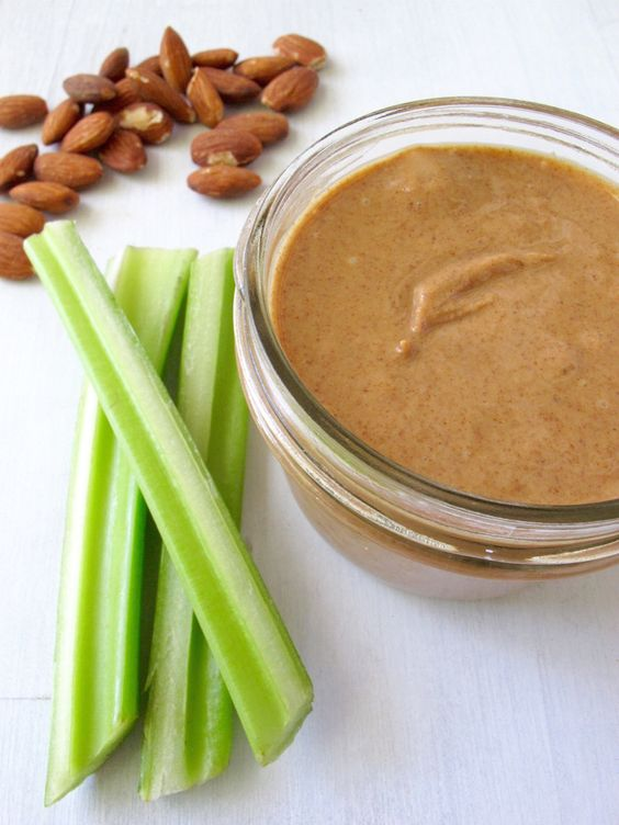 Snacks that Really Healthy People Eat; celery and nut butter