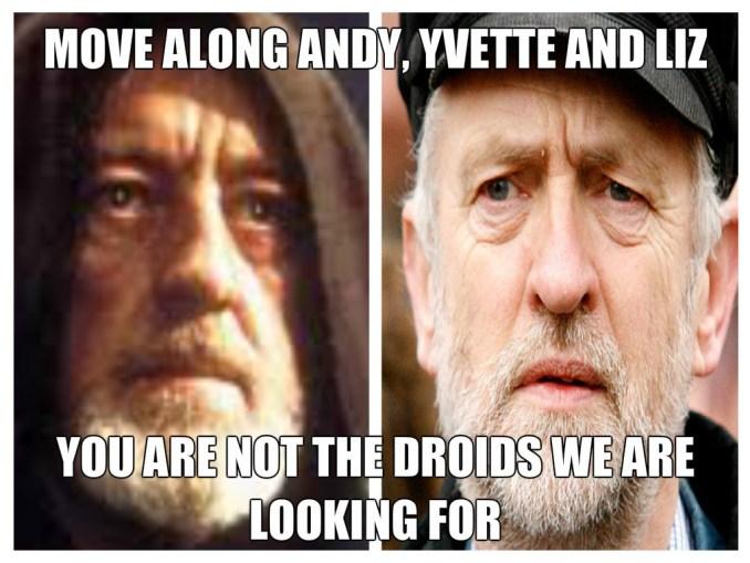 Jeremy Corbyn, Star Wars, Obi Wan Kenobi, Obi Wan Cornobi