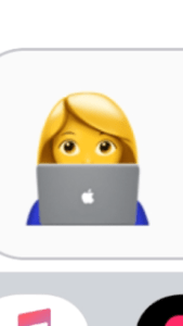 The woman at a keyboard emoticon