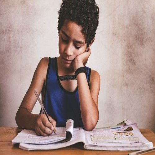 Children writing during lockdown