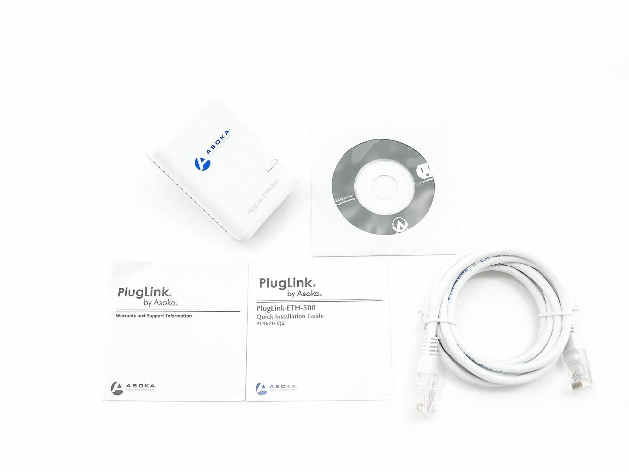 Asoka Pluglink Pl Q2 500mbps Dual Ethernet Powerline