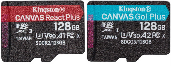 Kingston Canvas Go Plus 128gb Amp Canvas React Plus 128gb