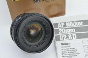Nikon AF Nikkor 20mm 2.8 D TOP Zustand A+ in OVP