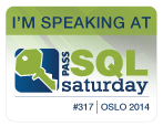 Speaking at SQLSaturday Oslo