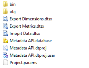 SSIS Google Analytics MetaData API