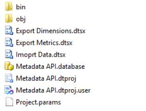 SSIS Google Analytics MetaData API