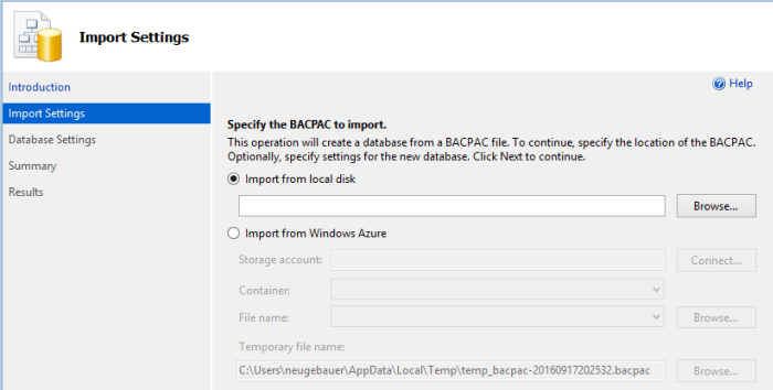 import-source-for-deploying-bacpac