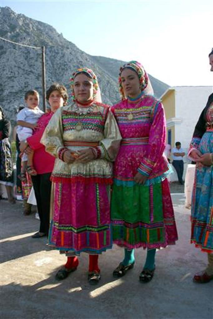 Girls in Olimpos Traditional Dress