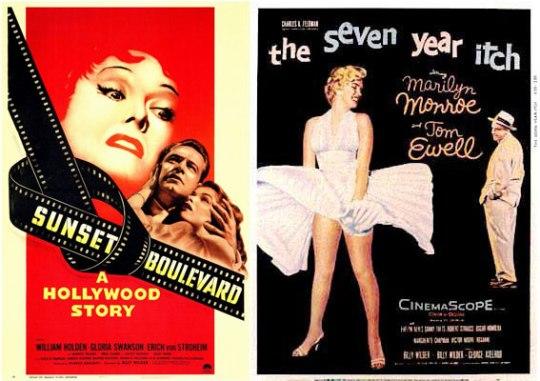 1939: Gone With the Wind Ε, καλά! Η πιο χαρακτηριστική αφίσα του σινεμά. Δενχρειάζονταιπολλάλόγια. 1950: SunsetBoulevard Με το πρόσωπο της Gloria Swanson στο φόντο, η αφίσα τα λέει όλα για το αριστούργημα του Billy Wilder.