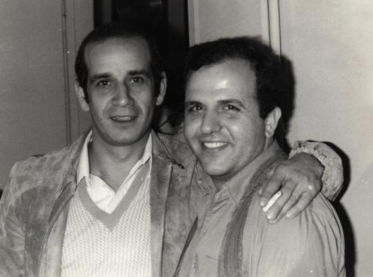 Με τον Δημήτρη Μητροπάνο το 1981