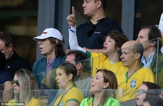 Μικ Τζάγκερ, γιος, Μουντιάλ  Γερμανία-Βραζιλία