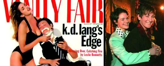 Το περίφημο εξώφυλλο του Vanity Fair με την Cindy Crawford να ξυρίζει την Καναδέζα τραγουδίστρια K.D.Lang