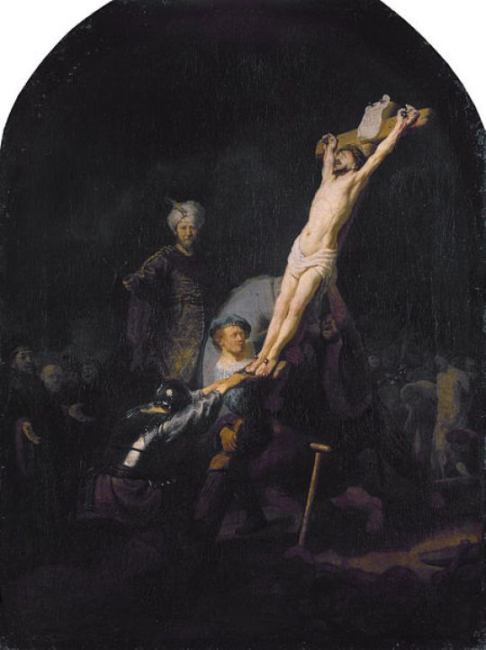 4_Rembrandt, The Raising of the Cross.