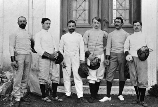 The-French-team, Olympic-Games, olympic_stadium, panathinaiko_stadio, Πρώτοι Σύγχρονοι Ολυμπιακοί αγώνες, Αθήνα 1896