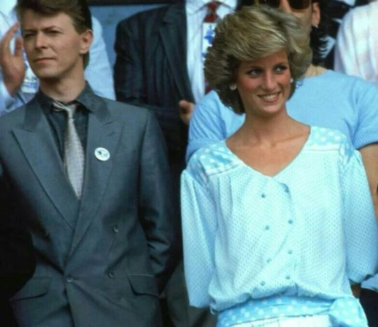 DAVID BOWIE, princes Diana