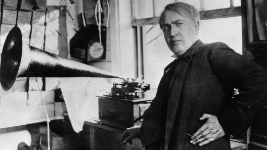 Thomas Edison, phonograph.