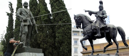 ΑΓΑΛΜΑ ΤΡΟΥΜΑΝ, AGALMA TROUMAN, TRUMAN STATUE, RIGILIS, nikosonline.gr