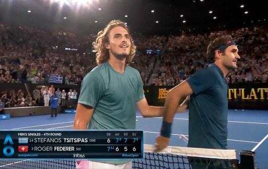 Roger Federer, Στέφανος Τσιτσιπάς, Έλληνας τενίστας, Australian open, STEFANOS TSITSIPAS, ΕΙΔΩΛΟ,TENIS, nikosonline.gr
