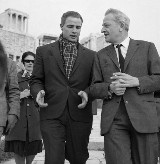 Μαρλον Μπράντο, Ζιλ Ντασέν, Ακρόπολις, Παρθενώνας, Marlon Brando, Jules Dassin, Acropolis, Parthenon, nikosonline.gr