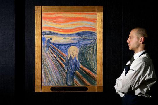 """Η """"κραυγή"""", πίνακας, Νορβηγός, Έντβαρτ Μουνκ, Edvard Munch, The scream, art, painting, nikosonline.gr"""