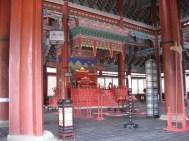 Geunjeongjeon, der Thron