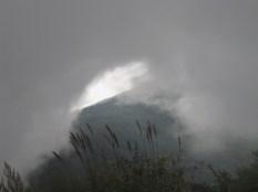 Wolkeneinbruch auf dem Parkplatz