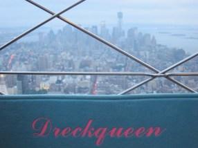 die Dreckqueen auf dem Empire State Building
