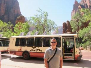 Mit dem Shuttlebus durch den Zion NP