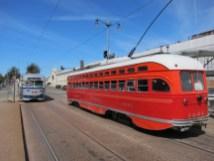 schicke Straßenbahn