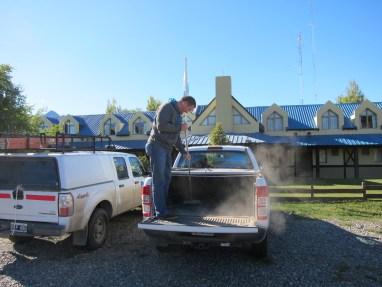 Auto putzen auf Patagonisch