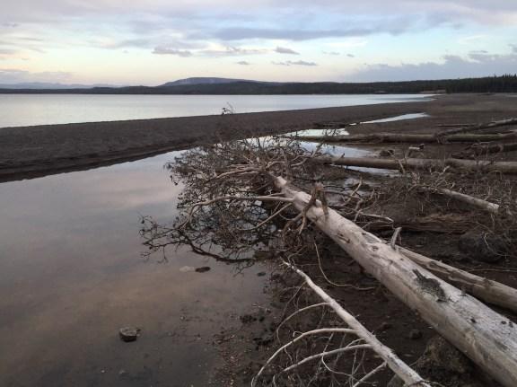 ... und der Yellowstone Lake um's Eck.