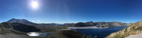 Mount St. Helens und Spirit Lake vom Windy Ridge