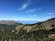 Blick über die Strait of Juan de Fuca hinüber nach Kanada