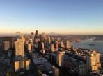 Seattle im Sonnenuntergangslicht
