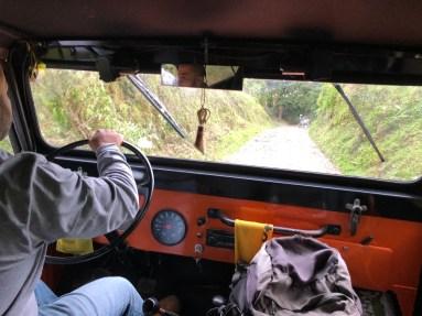 Der Jeep von innen...