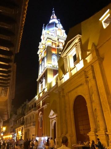 Cartagena bei Nacht - Catedral de Santa Catalinade Alejandría de Cartagena de Indias
