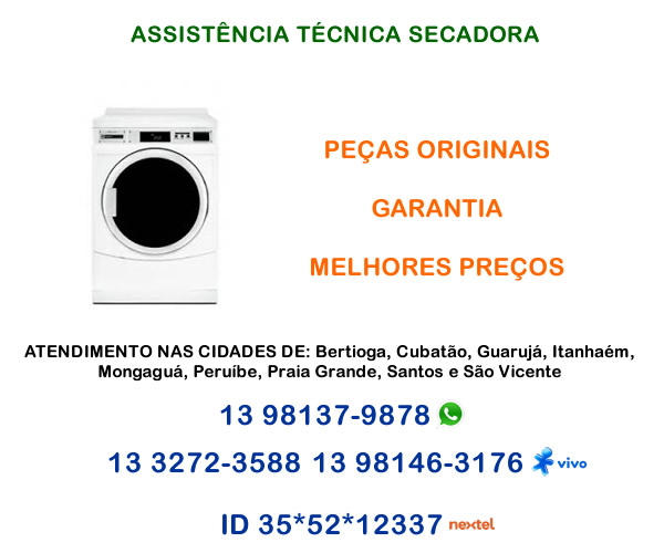 Assistência técnica secadora Cubatão