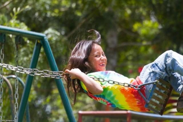 Girl on swing, Chiligatoro, Intibucá, Honduras.