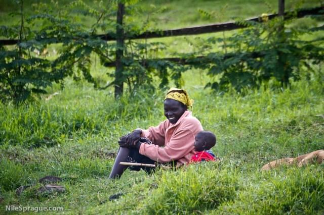 Mother and child, Tiret, Kenya.