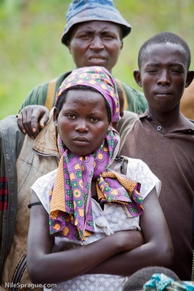 Villagers at celebration of Buhanga coffee farmer's cooperative, South Province, Rwanda.