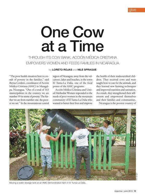 Response June 2013 One Cow at a Time
