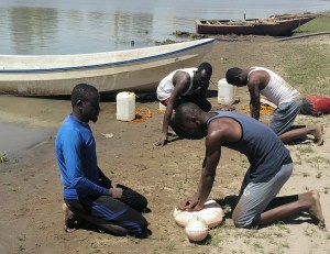 CPR Training on the banks of the Nile