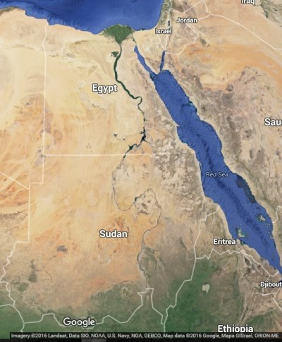 Google map of the Nile
