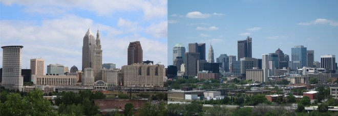Cleveland, left; Columbus, right.