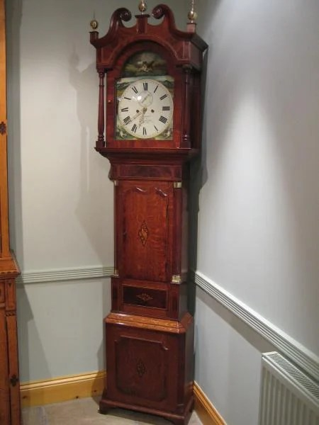Early Victorian Longcase Clock by D. Bowen, Alfreton