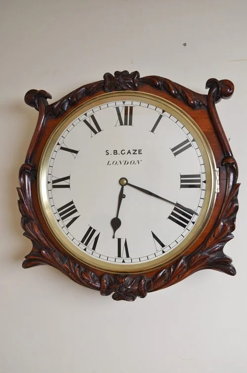 Victorian Wall Clock by S B Gaze London